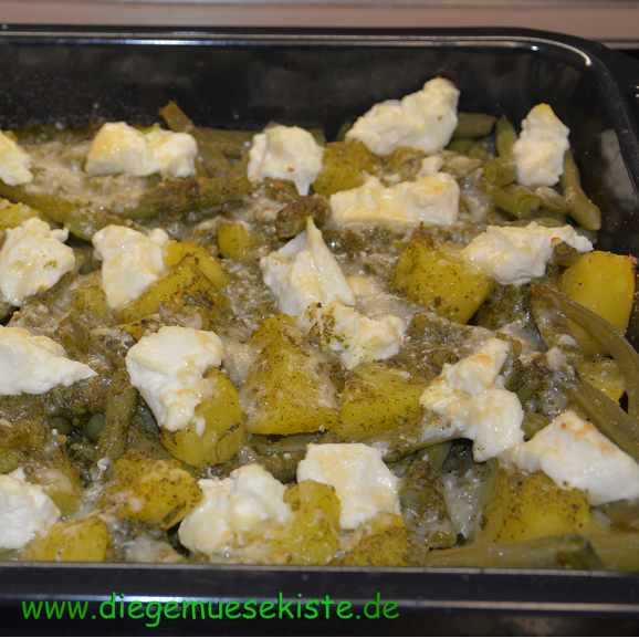 Bohnen-Gratin mit Pesto