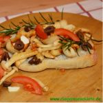 Crostini mit Buchenpilzen