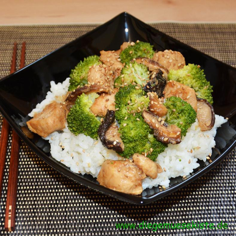 Donburi – Reis mit Huhn