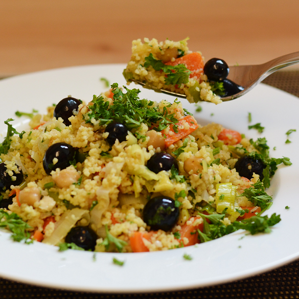 Heidelbeer-Gemüse-Couscous