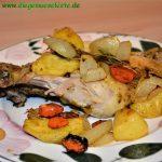 Ras el Hanout Hähnchenkeulen mit Ofengemüse
