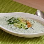 Kalte Gurken-Dill-Suppe
