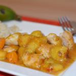 Karibische Hähnchen-Kochbananen-Pfanne