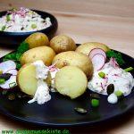 Frühkartoffeln mit Radieschen-Quark