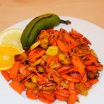Kochbananen-Möhren-Gemüse