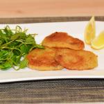 Kohlrabi-Schnitzel mit Posteleinsalat