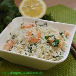 Koriander-Zitronen-Reis mit Garnelen