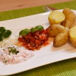 Neue Kartoffeln mit dreierlei Dips