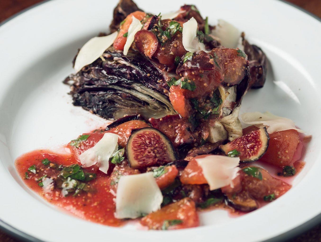 Radicchio mit Tomaten-Feigen-Salat