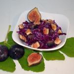 Rotkohlsalat mit Feigen