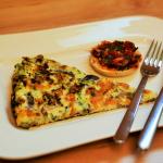 Shiitake-Omelett mit Tomaten-Bruschetta
