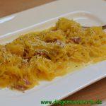 Spaghettikürbis alla Carbonara