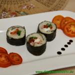 Sushi italienisch mit Schinken
