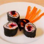 Sushi mit Möhre und Rote Bete