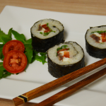 Sushi mit Sardellenfilets