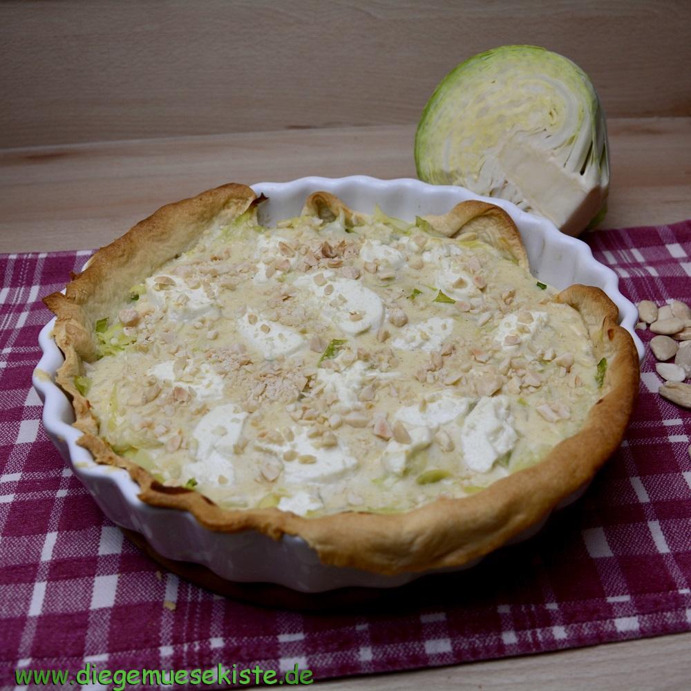 Weißkohl-Ziegenkäse-Tarte