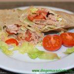 Schnelle Wraps mit Tomaten-Thunfisch-Füllung