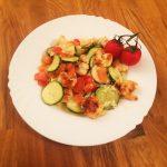 Zucchini-Garnelen-Gratin