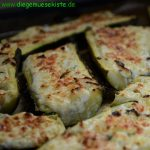Zucchini mit Ricotta-Füllung