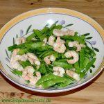 Zuckererbsen-Garnelen-Salat