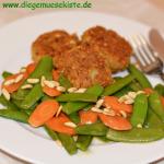 Zuckererbsen-Möhren-Gemüse